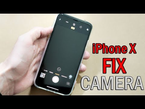 Camera app on iphone x not working