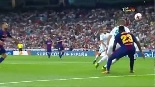 اهداف كاس السوبر ريال مدريد وبرشلونة 5 1  ||  جنون المعلق علي سعيد الكعبي HD