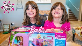 Twins Barbie Dream Camper bloopers and outtakes