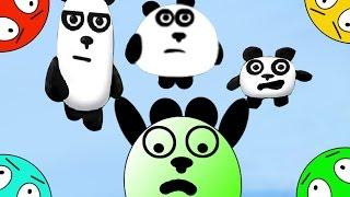 🐾 Четыре панды #4! Приключения на острове! Мультик Игра. Новые мультфильмы