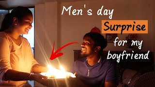 Surprising my boyfriend,my son and my father on Men's day ( They were shocked )