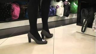 Туфли женские Luca Verdi 5173 (черный/белый,замша/лазер)