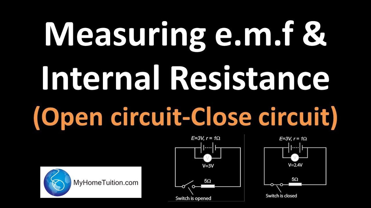 Measuring Emf And Internal Resistance Open Circuit Close