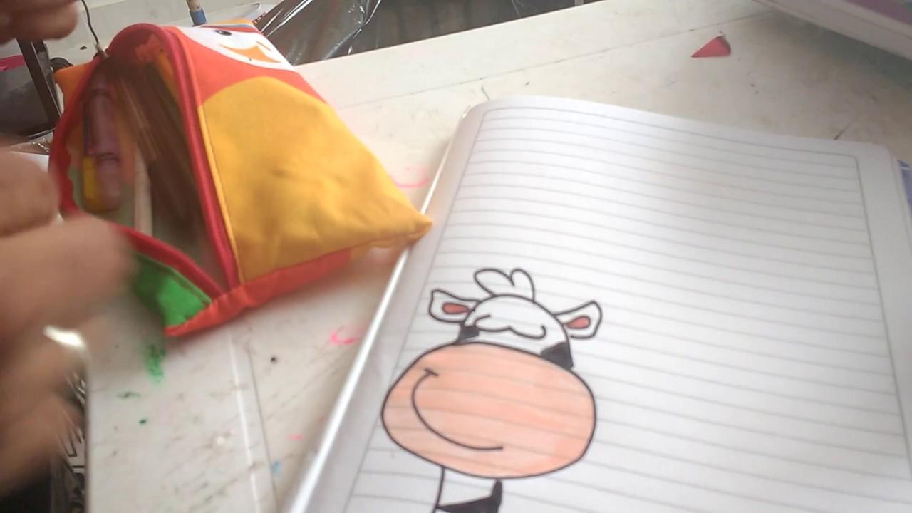 Marcando cuaderno de ingl s con dibujo de cebra para - Como decorar un dibujo de una castana ...