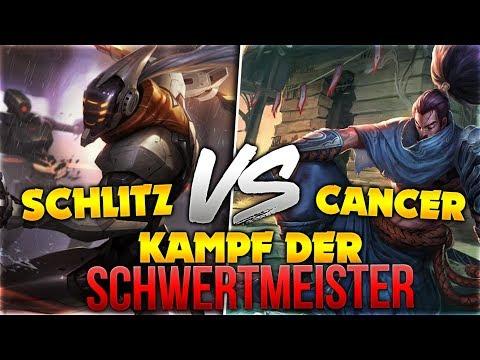 Kampf der Schwertmeister! Schlitz vs Cancer [League of Legends] [Deutsch / German]