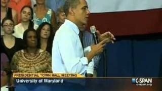 Obama answers an atheist's question