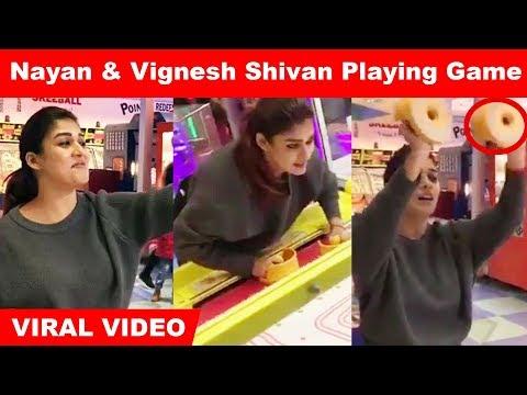 Viral Video : Nayanthara & Vignesh Shivan playing Pac-Man smash | #Nayanthara #Kollywood