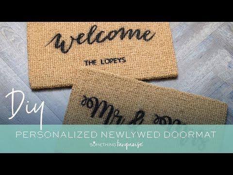 DIY Personalized Doormats With Cricut Maker