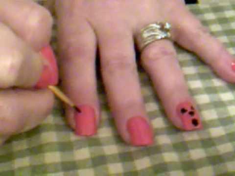 ~ Easy Pumpkin Nails ~