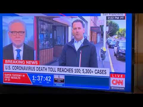 "CNN's Dan Simon In San Francisco Marina District Talking ""Shelter In Place"""