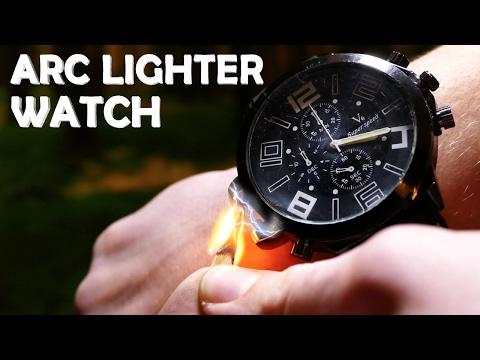 DIY Arc Lighter Watch! - Secret Spy Gadget (Electric Lighter On Your Wrist!!!)