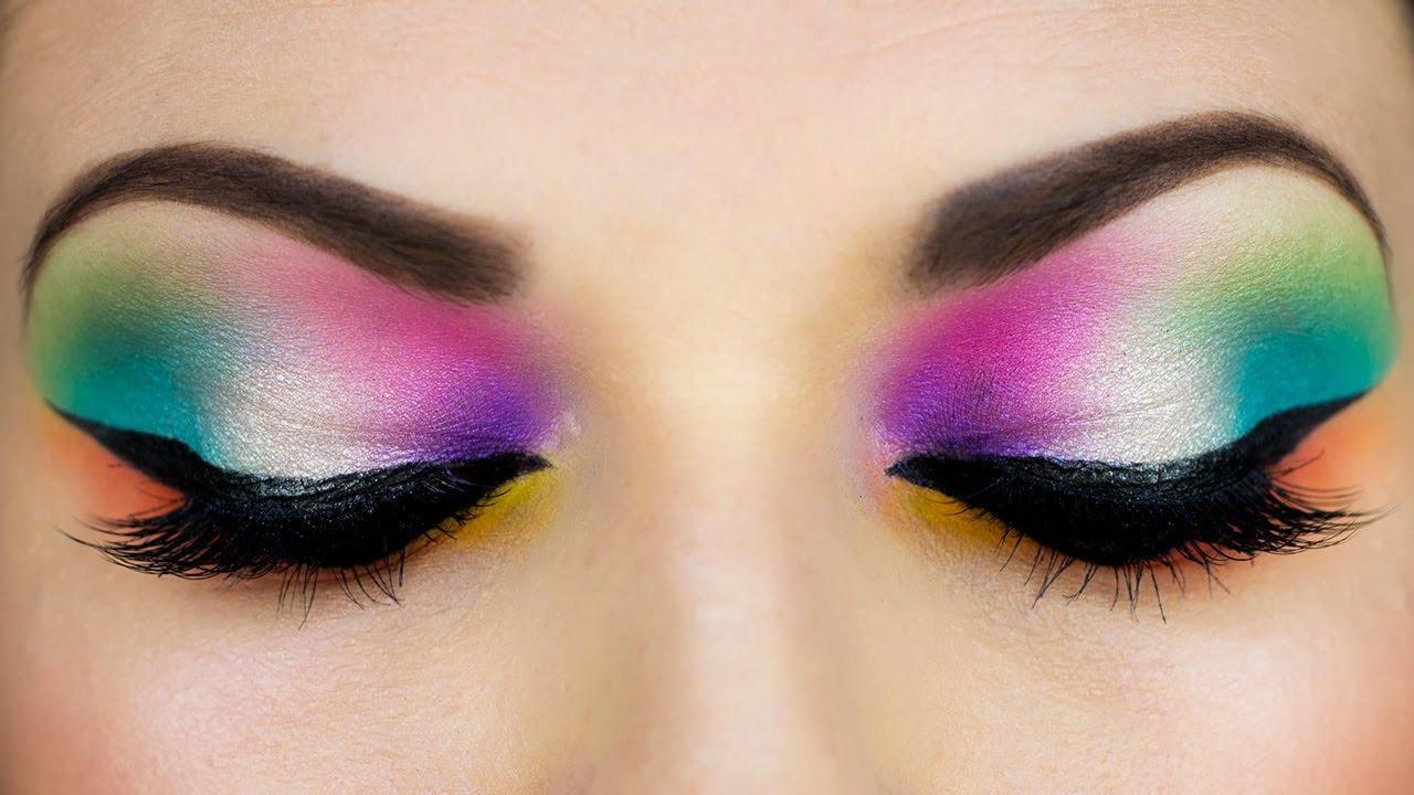 Super Colorful Arab Makeup المكياج العربي Youtube