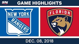 NHL Highlights | Rangers vs. Panthers - Dec 8, 2018