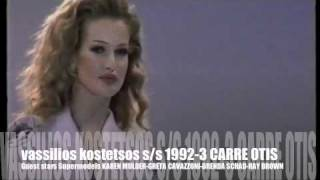 vassilios kostetsos s/s 1992-3  guest star actress supermodel Carre Otis-Karen Mulder part 2