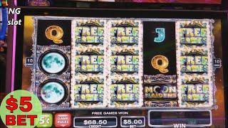 ★Moon Maidens★ Slot Machine Bonus Won $5 Max Bet ! Live Slot Play