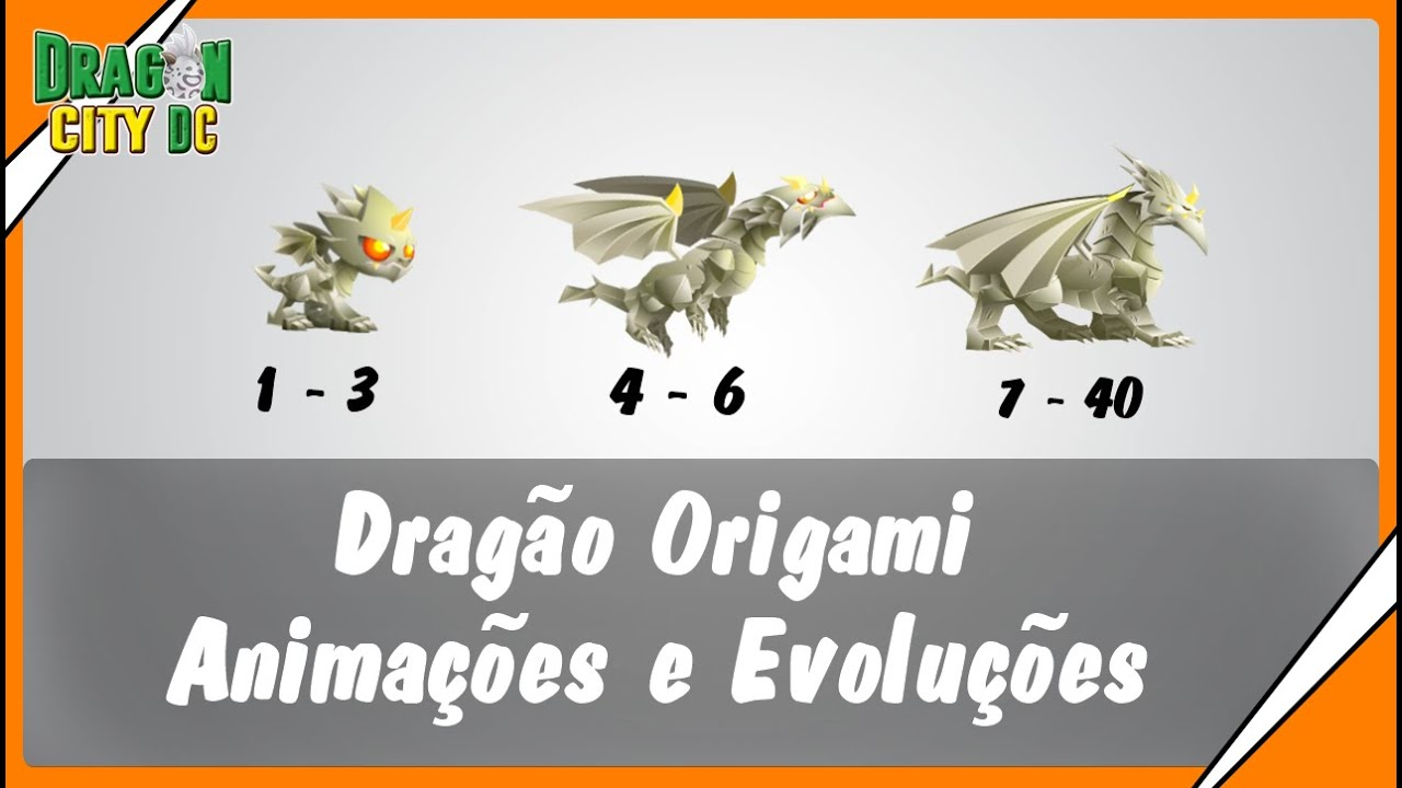 Dragon City Dc Drago Origami Animaes E Evolues Youtube