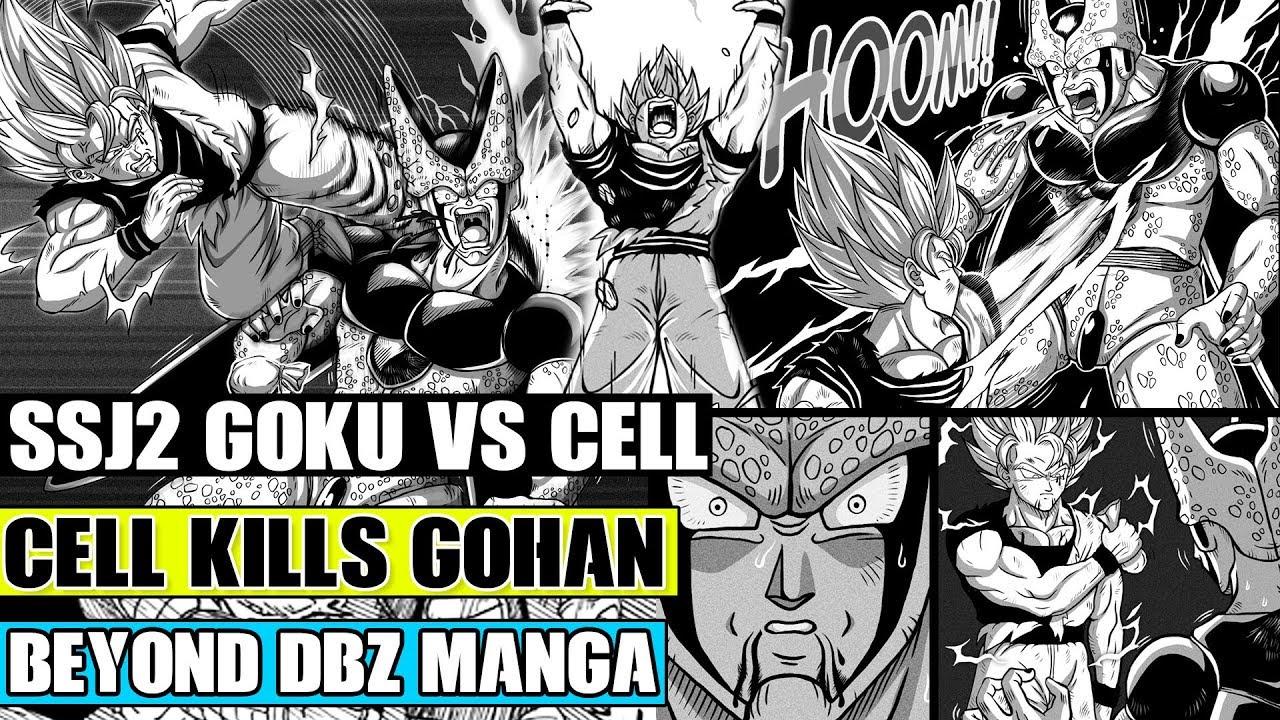 Beyond Dragon Ball Z Super Saiyan 2 Goku Vs Perfect Cell Cell Kills Vegeta Piccolo Mourns Gohan Youtube