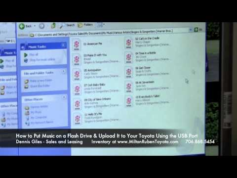 How To Upload Music Files Using Flash Drive And Play On Your Toyota Using USB Port