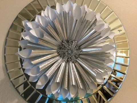 Silver Paper, Holiday Wreath (diy)