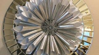 Silver Paper, Holiday Wreath (diy)