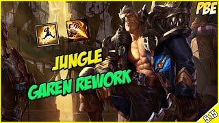✔ FULL AD GAREN REWORK JUNGLE - PBE Full Commentary | League of Legends