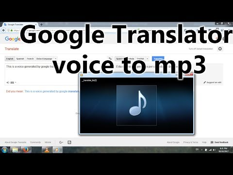 Easy Way To Save Mp3 From Google Translator Voice - Download