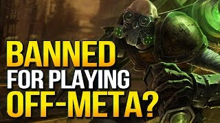 RIP OFF-META PICKS? Support Singed Threatened with Perma Ban by Riot (League of Legends)
