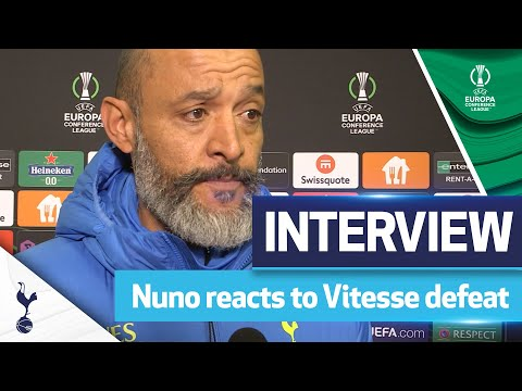 """""""A lack of focus in some moments."""" - Nuno analyses defeat in Europe 