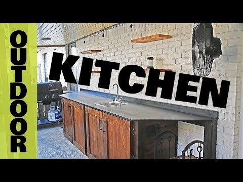 Outdoor Kitchen - DIY Woodworking