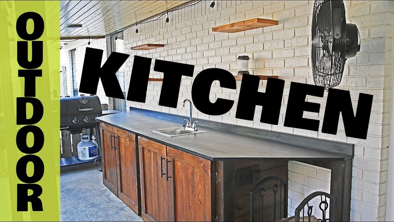 Outdoor Kitchen Diy Woodworking Youtube