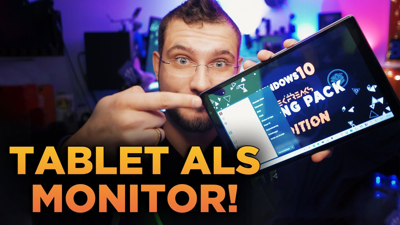 Tablet/Handy/Laptop als Monitor nutzen!  PC Monitor via WLAN/LAN/USB!