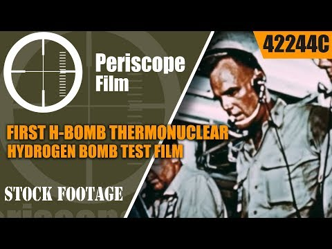 FIRST H-BOMB THERMONUCLEAR HYDROGEN BOMB TEST FILM IVY MIKE 42244c