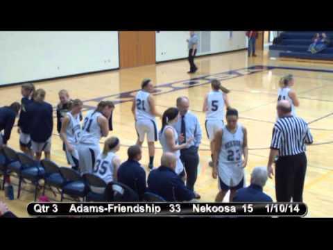 Nekoosa Girls Basketball vs. Adams-Friendship 1-10-14