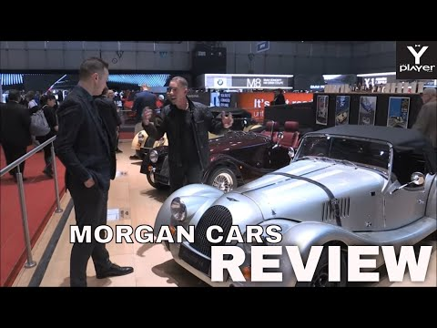 Morgan Cars Designer John Wells on the Morgan Motor Company stand at Geneva Motor Show