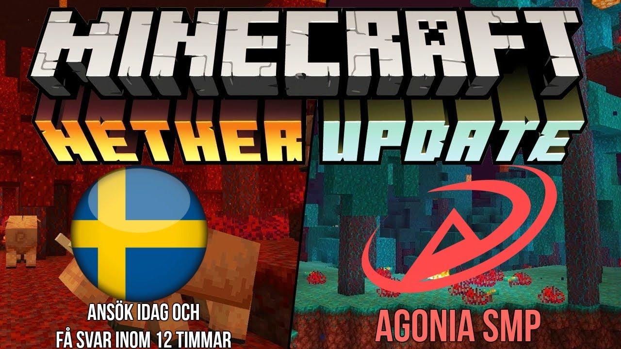 Svensk Minecraft 1.16.1 Survival Server | Ansök och få svar inom 12 timmar | Agonia SMP 2020