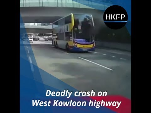 Deadly bus crash on Hong Kong's West Kowloon Highway