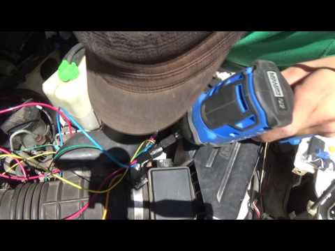 how to set up electric cooling fan on a geo tracker pt2