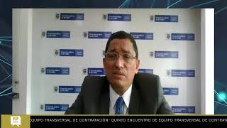 Quinto Encuentro de Equipo Transversal de Contratación (octubre 2021)