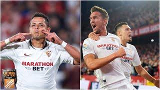 'Chicharito' Hernández o Luuk de Jong, ¿quién es mejor delantero para el Sevilla? | Fútbol Center