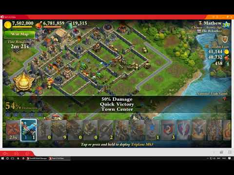 Industrial Vs. Atomic -  DomiNations Gameplay using Droid4X Android Emulator