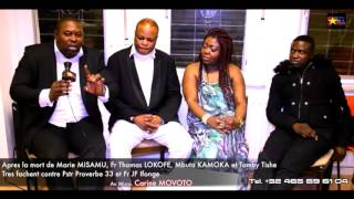 Apres la mort de Marie Misamu Fr.Thomas LOKOFE,Fr. mbuta KAMOKA et Fr.Tambu TISHE Tres fachent