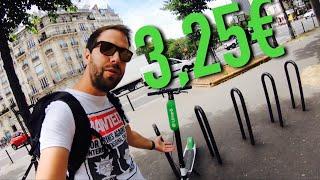 Des trottinettes électriques en libre service à Paris Lime