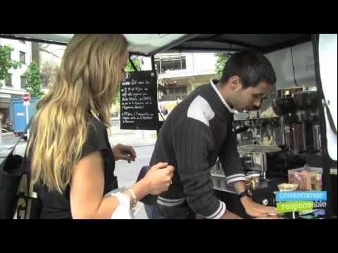 Pousse café à Nantes, le cafetier nomade sur un triporteur.mov