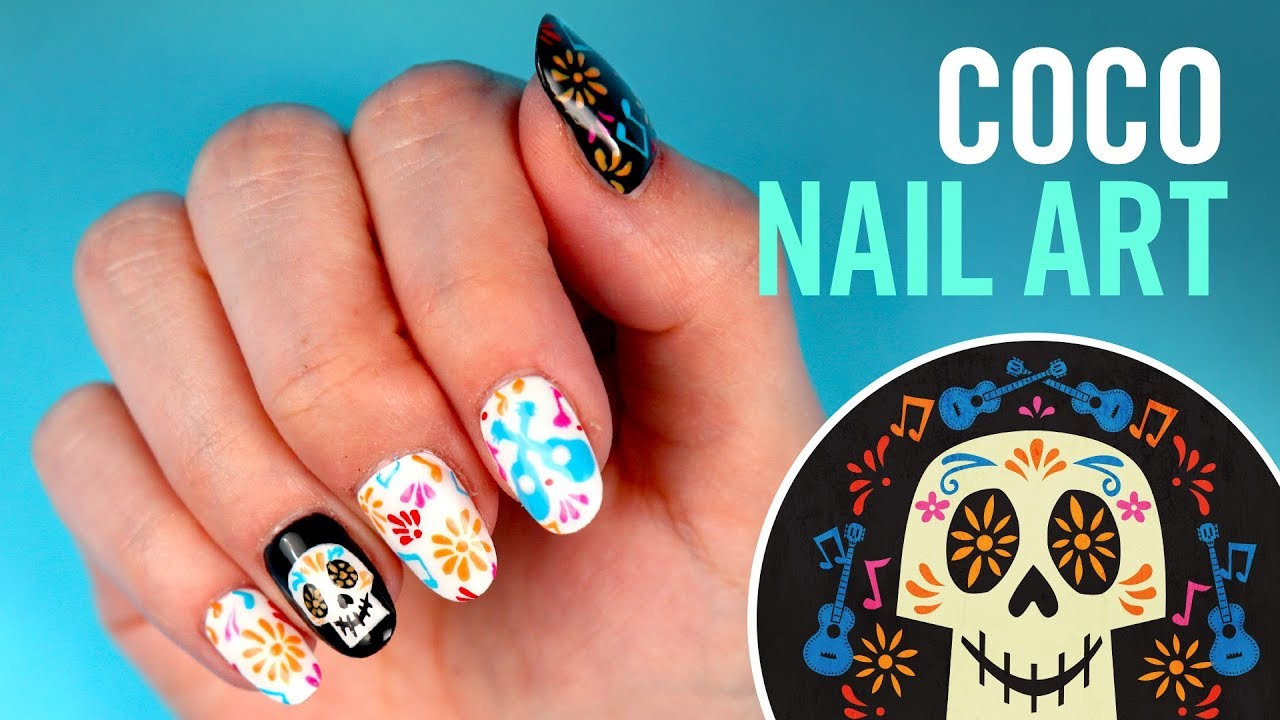 Coco Nail Art | TIPS by Disney Style - Coco Nail Art TIPS By Disney Style - YouTube