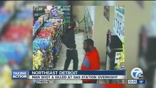 Man shot and killed near gas station in Detroit