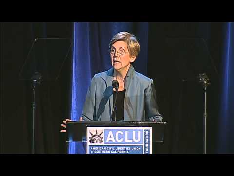 ACLU SoCal honors Elizabeth Warren