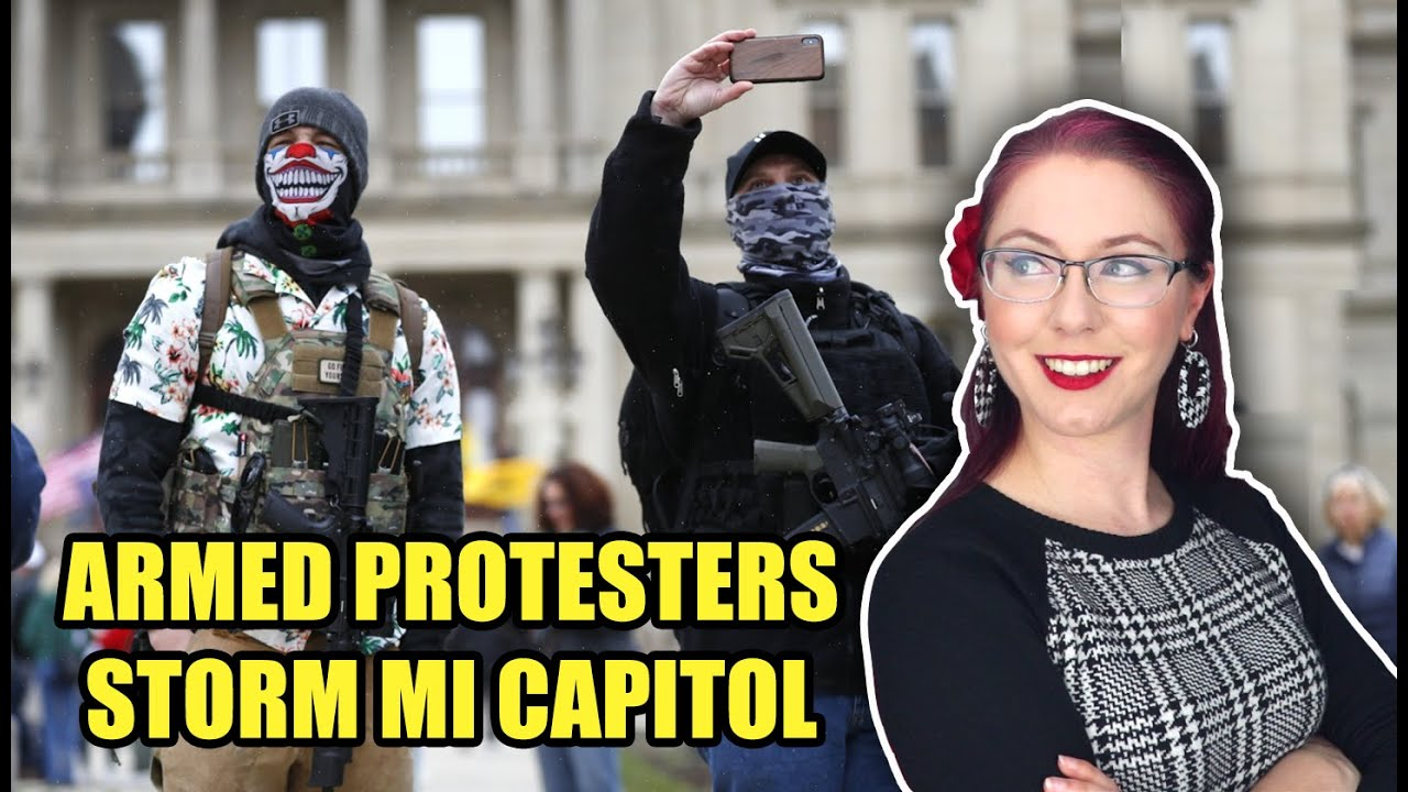 Armed Protesters Storm MI Capitol
