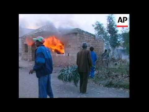 ETHIOPIA: ERITREAN FORCES BOMB BORDER TOWN OF ADIGRAT