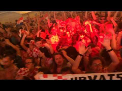 EURO 2016 CROATIA FANS ZAGREB