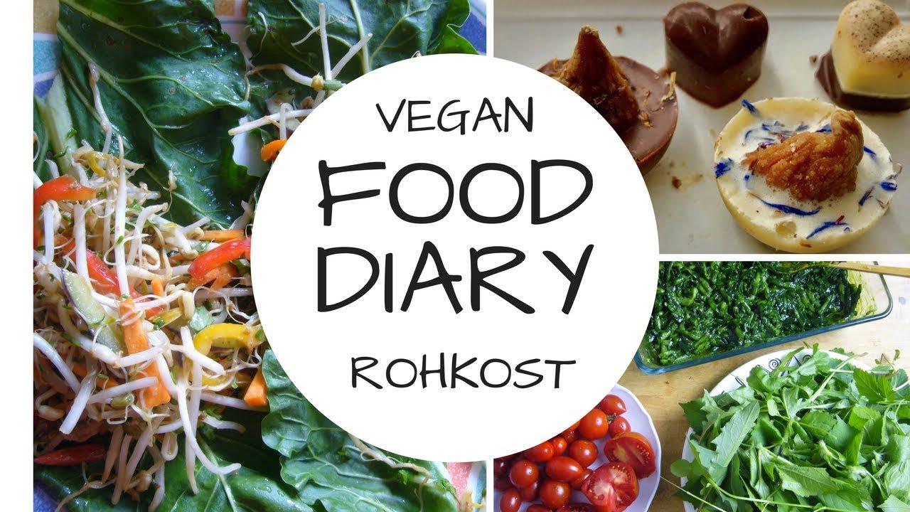 FOOD DIARY 7 Tage - vegan - Rohkost - grün!